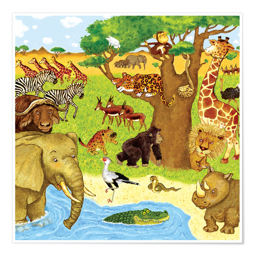 Poster Premium Animals in Africa