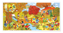 Poster Premium Garden in autumn