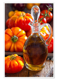 Poster Premium Olive oil and tomatoes II