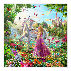 Poster  Princess and the Unicorn - Adrian Chesterman