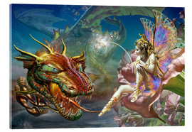 Stampa su vetro acrilico  The dragon and the fairy - Adrian Chesterman