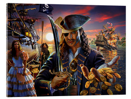 Stampa su vetro acrilico  The pirate - Adrian Chesterman