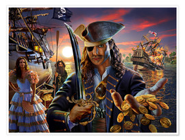Poster Premium  The pirate - Adrian Chesterman