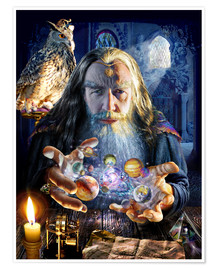 Poster Premium  The wizard's world - Adrian Chesterman