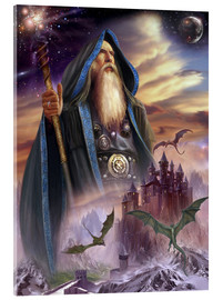 Stampa su vetro acrilico  The high Mage - Dragon Chronicles
