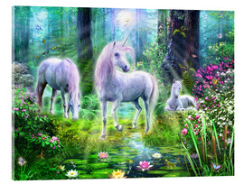 Vetro acrilico  Forest unicorn family - Jan Patrik Krasny