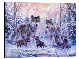 Alluminio Dibond  Winter Wolf Family - Jan Patrik Krasny
