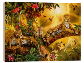 Stampa su legno  Jungle Jaguars - Jan Patrik Krasny