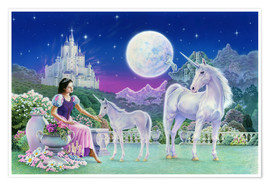 Poster Unicorn Princess - Feeding foal
