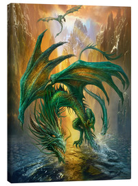 Stampa su tela  Dragon of the lake - Dragon Chronicles