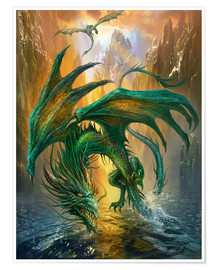 Poster Premium  Dragon of the lake - Dragon Chronicles