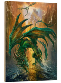 Stampa su legno  Dragon of the lake - Dragon Chronicles