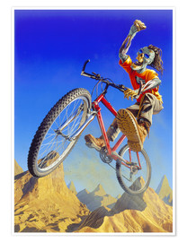 Poster Premium  Mountain bike - Extreme Zombies