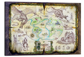 Alluminio Dibond  Dragons of the world - Dragon Chronicles