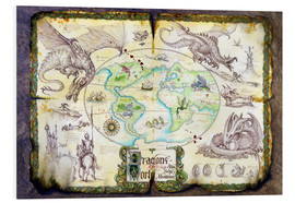 Stampa su PVC  Dragons of the world - Dragon Chronicles
