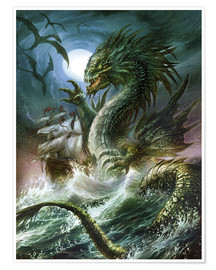 Poster Premium  The sea serpent - Dragon Chronicles