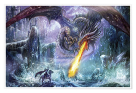 Poster Premium Dragon attack