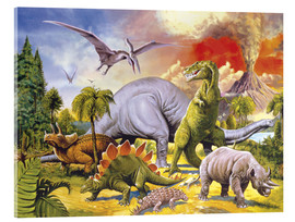 Stampa su vetro acrilico  Land of the dinosaurs - Paul Simmons