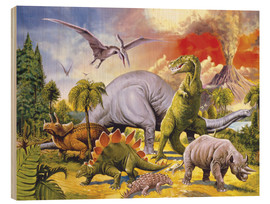 Stampa su legno  Land of the dinosaurs - Paul Simmons