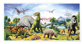 Poster  Land of the dinosaurs - Paul Simmons