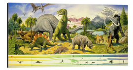 Stampa su alluminio  Land of the dinosaurs - Paul Simmons