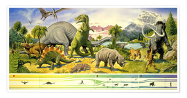 Poster Premium  Land of the dinosaurs - Paul Simmons