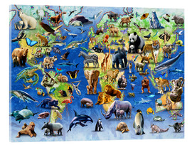 Vetro acrilico  One Hundred Endangered Species - Adrian Chesterman