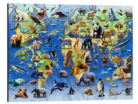 Stampa su alluminio  One Hundred Endangered Species - Adrian Chesterman