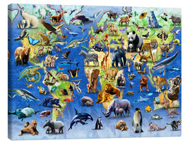 Stampa su tela  One Hundred Endangered Species - Adrian Chesterman
