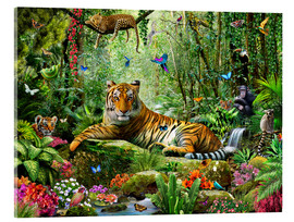 Vetro acrilico  Tiger in the Jungle - Adrian Chesterman