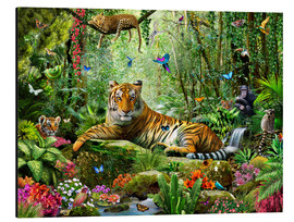 Alluminio Dibond  Tiger in the Jungle - Adrian Chesterman