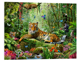 Stampa su schiuma dura  Tiger in the Jungle - Adrian Chesterman