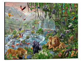 Alluminio Dibond  Jungle Waterfall - Adrian Chesterman