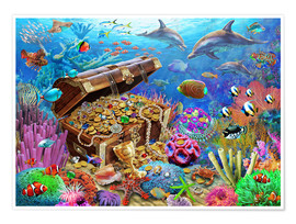 Poster Premium  Undersea Treasure - Adrian Chesterman