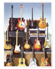 Poster Premium  Guitars - Adrian Chesterman