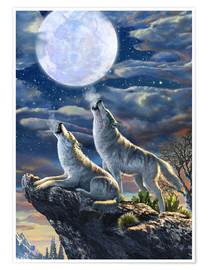 Poster Premium  Midnight Wolves - Adrian Chesterman