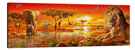 Stampa su alluminio  Savanna Sundown - Adrian Chesterman