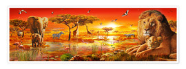 Poster Premium  Savanna Sundown - Adrian Chesterman