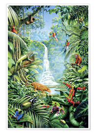 Poster  Save the rainforest - Gareth Williams