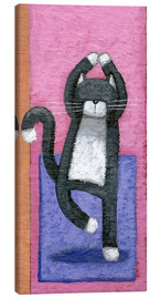 Stampa su tela  Yoga for Cats - Peter Adderley
