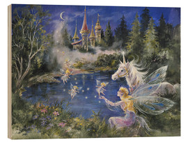 Legno  Fairies visit the Unicorn - Mimi Jobe