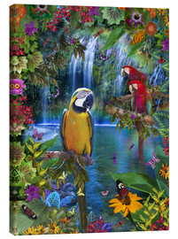 Stampa su tela  Bird Tropical Land - Alixandra Mullins