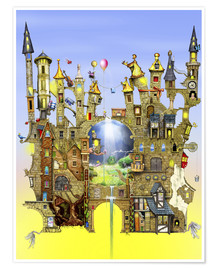 Poster  Castles in the air - Colin Thompson