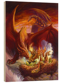 Stampa su legno  Children of the Dragon - Jeff Easley