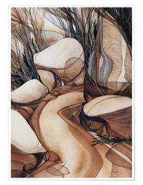 Poster  The road less travelled - Jody Bergsma