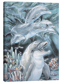 Stampa su tela  Peace, Love and Laughter - Jody Bergsma