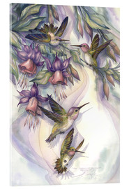 Stampa su vetro acrilico  Love is the joy of life - Jody Bergsma