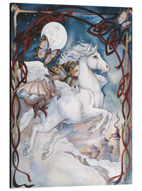 Stampa su alluminio  Child Riding On Horse - Jody Bergsma