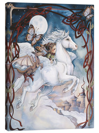 Stampa su tela  Child Riding On Horse - Jody Bergsma