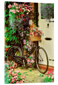 Vetro acrilico  Bicycle & Flowers - Simon Kayne